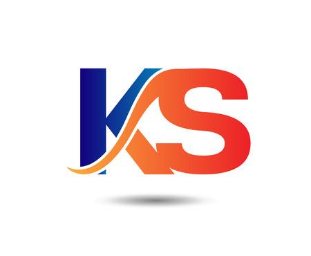 Letter KS Vektoros illusztráció