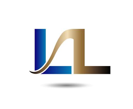 LL Logo. Vector Graphic Element Letter Branding
