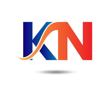 Two letter NK logo or signature Illusztráció