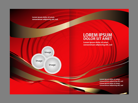 Professional business flyer, corporate brochure design template