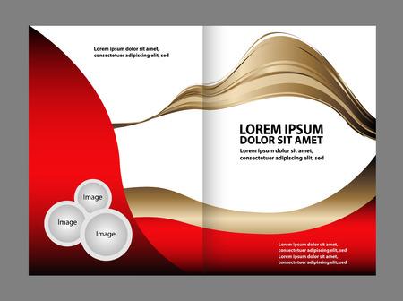 hold ups: Bi-Fold Corporate Business Store Brochure Design Mock up Illustration