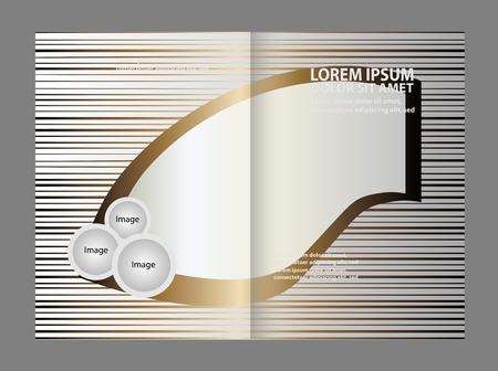 spreads: Bi-fold brochure empty vector template design print, booklet layout newsletter