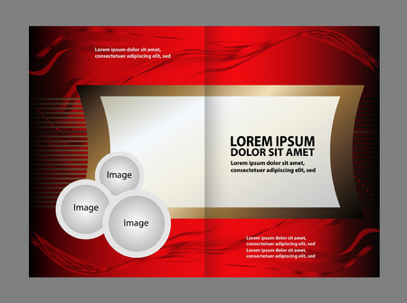 gender identity: Bi-fold brochure template Empty design with red color, booklet