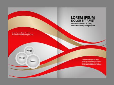 book spreads: Professional business flyer, corporate brochure design template
