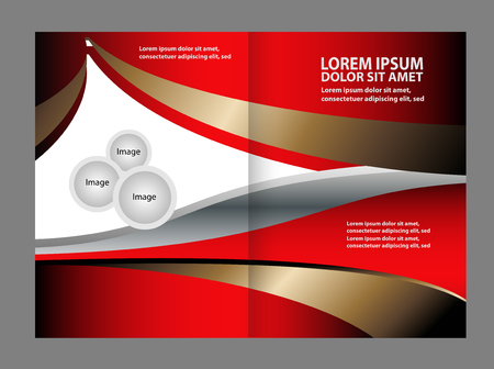 spreads: vector business brochure (booklet) template