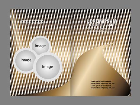 book publisher: Bi-fold brochure empty vector template design print Illustration