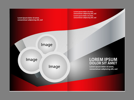 book spreads: Template for advertising brochure