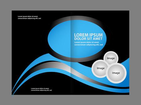 invitation barcode: Vector business brochure, flyer template