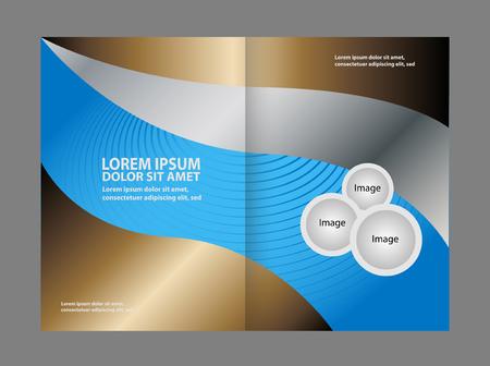 gender identity: Professional business flyer template bi fold Illustration