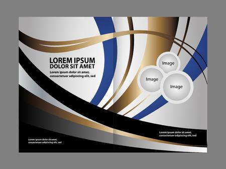 gender identity: Bi fold business brochure template vector