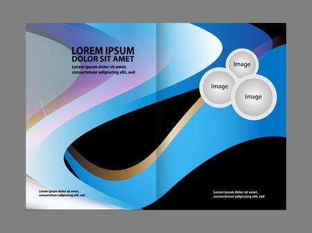 gender identity: Bi-Fold Corporate Business Store Brochure Design Mock up & Illustration