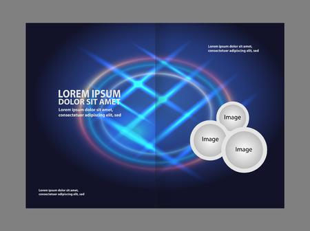 gender identity: Bi-fold brochure modern vector design template Illustration