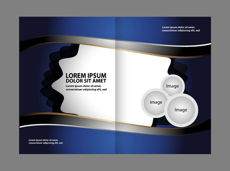 publisher: Bi-Fold Brochure Design Colorful. Leaflet Corporate, Cover Template