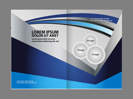 book spreads: Professional business flyer template or corporate brochure design Illustration