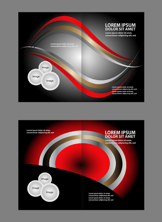 book spreads: Two pages a4 brochure design templates. vector illustration Illustration