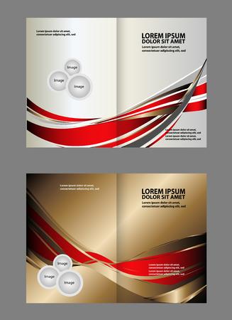 coworker banner: Professional business flyer template or corporate brochure design Illustration