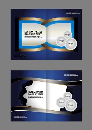 book spreads: Vector brochure template design