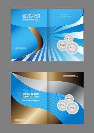 spreads: Vector brochure template design
