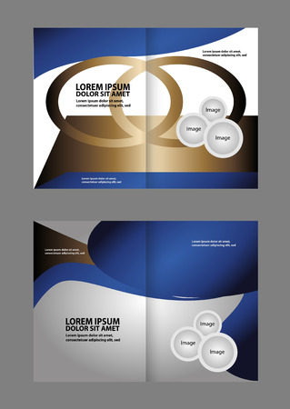 spreads: Two pages a4 brochure design templates. vector illustration Illustration