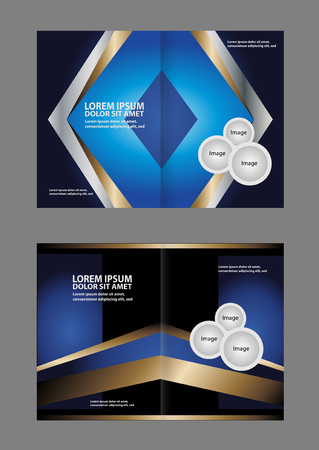Vector brochure, flyer, magazine cover & poster template. Two (2) Pages.