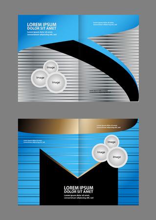 Vector Empty Print Bifold Brochure Template Design Royalty Free - Bifold brochure template
