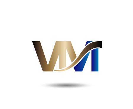 linked services: V and M  vector Illustration