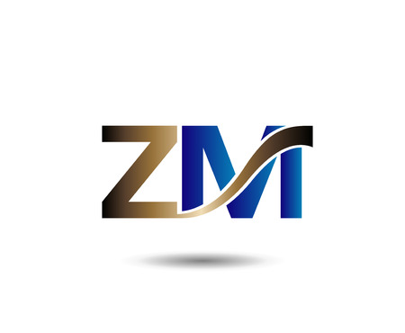 linked services: Z and M letter Illustration