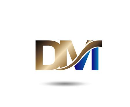 D and M letter Ilustração