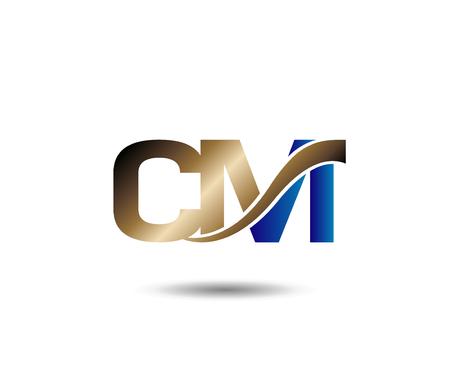 cm: C and M letter Illustration