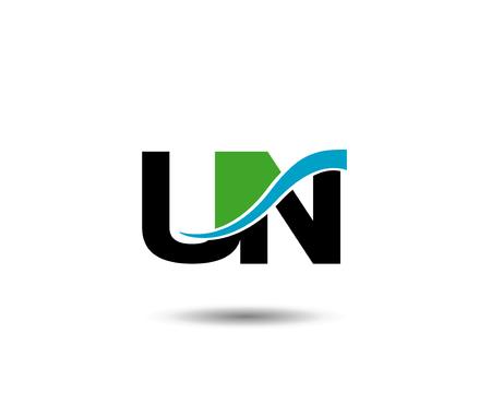un: UN letter Vector Graphic Element Letter Branding Illustration