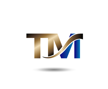 linked services: T and M letter Illustration