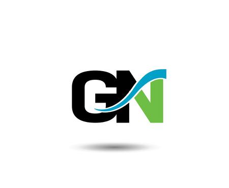 GN letter Vector Graphic Element Letter Branding