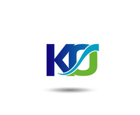 KO Branding Wektor Element graficzny List Ilustracje wektorowe