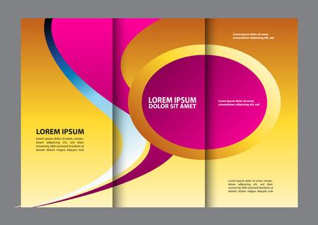 stack of files: tri-fold brochure Illustration