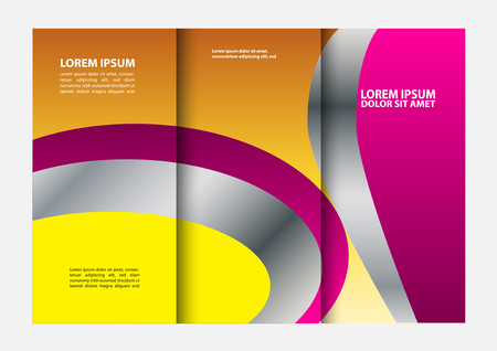 fold: tri fold brochure Illustration