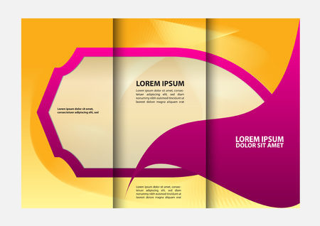 magazine stack: Tri-fold brochure design templates, business leaflet, booklet wave