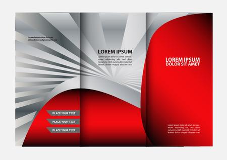 fold back: Tri-fold Brochure Design Templates and Catalog Vector