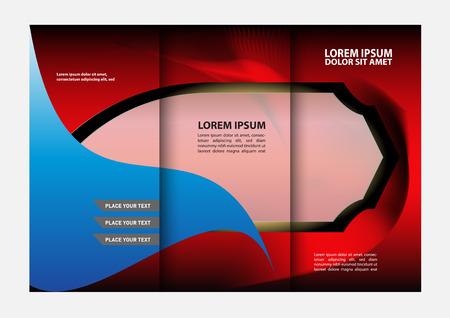 Custom Tri Fold Brochure Template Works Great For Inside Or Outside