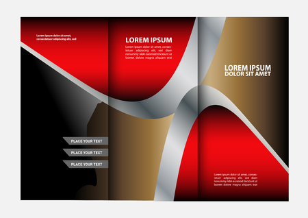 swish: waves curves abstract brochure design template set Illustration
