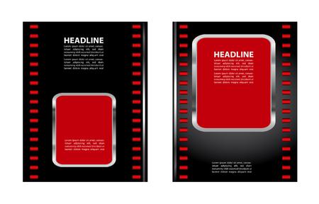 magazine design: Stylish presentation of business poster, magazine cover, layout design template