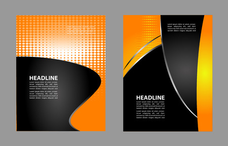 halftone cover: Abstract flyer or cover design with halftone effects  vector illustration