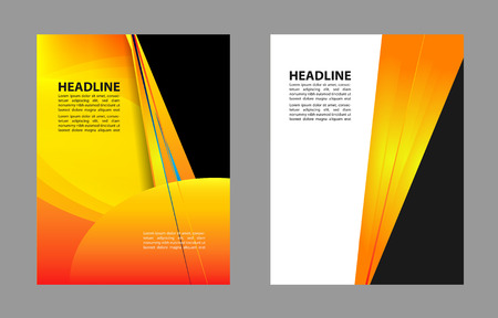 textfield: Stylish presentation of business poster, flyer layout template Illustration