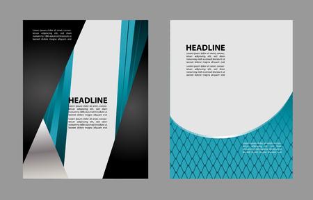 publisher: Background concept design for brochure or flyer, abstract vector illustration Illustration