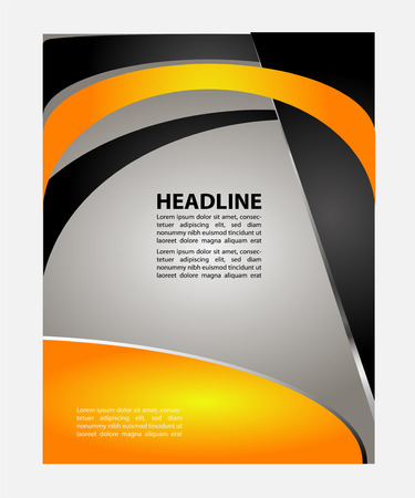 grey backgrounds: Vector design template Flyer Brochure