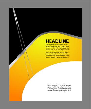 publisher: Abstract background vector flyer Illustration