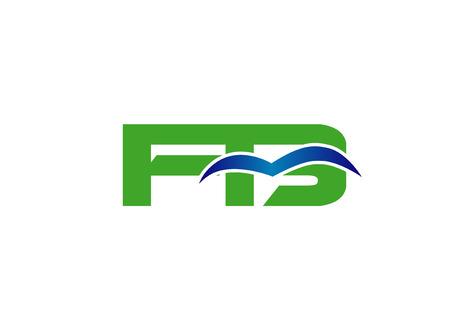 linked: Letter BF linked company Illustration