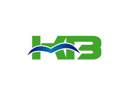alphabet letter K and B Illustration