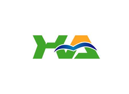 initial: XA initial letter vector