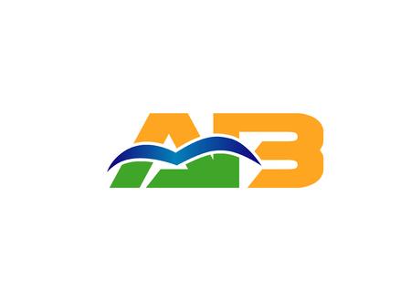 company: Letter AB company vector Illustration