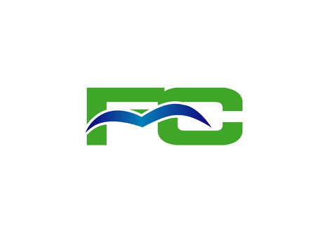 Letter FC linked company vector